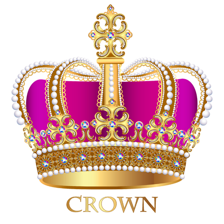 jewels: illustration imperial crown with jewels on a white background