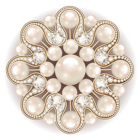 Mandala Brosche Schmuck, Design-Element. Perle Vintage ornamentalen Hintergrund. Standard-Bild - 78256709