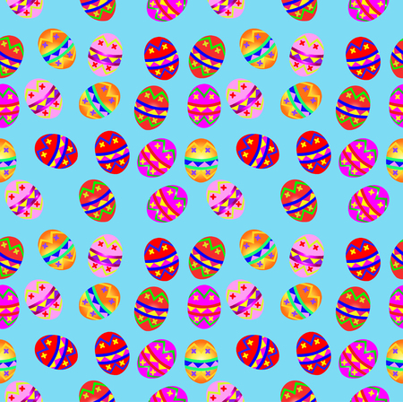 excess: Illustration of seamless background with Easter eggs