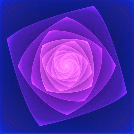 illustration of a fractal fantastic bright shiny flower Stock Photo