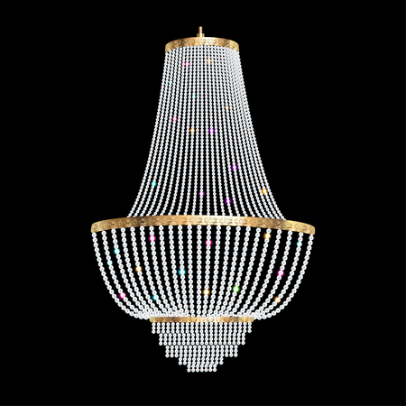 illustration of a chandelier with crystal pendants on the black mozeypictures Gallery