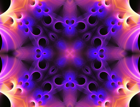 fractal illustration background  with abstract bright glow Stock Photo