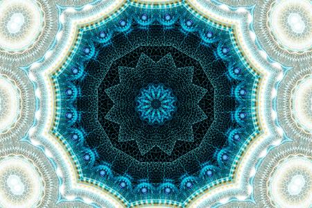 illustration fractal background lacy flower with Crackle
