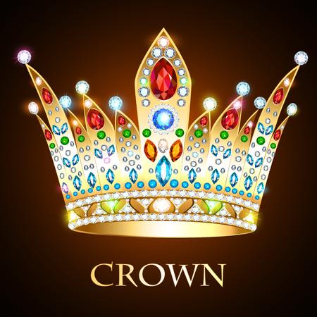 Illustration de la couronne royale d'or.