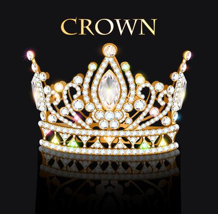 Illustration of royal gold crown. Illustration