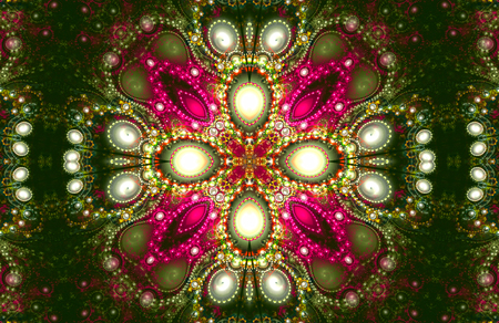 Illustration fractal background with pearls. A fractal is a natural phenomenon or a mathematical set that exhibits a repeating pattern that displays at every scale.
