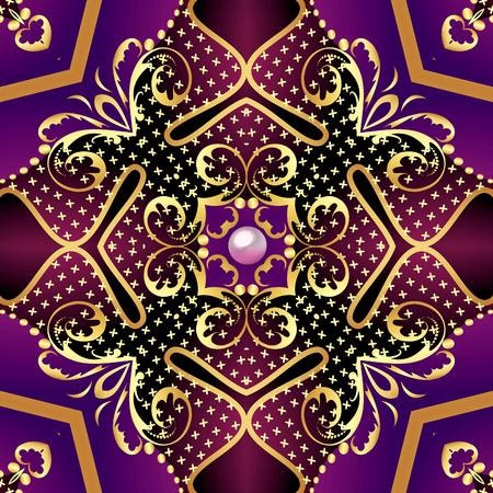 illustration vintage  background with vegetable gold(en) pattern Stock Illustration - 90070693