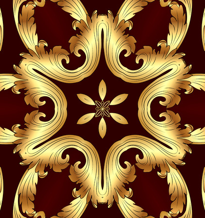 Illustration brown background for decoupage with gold(en) pattern