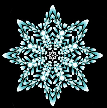 brooch jewelry, design element.  Geometric vintage ornamental background. Stock Photo