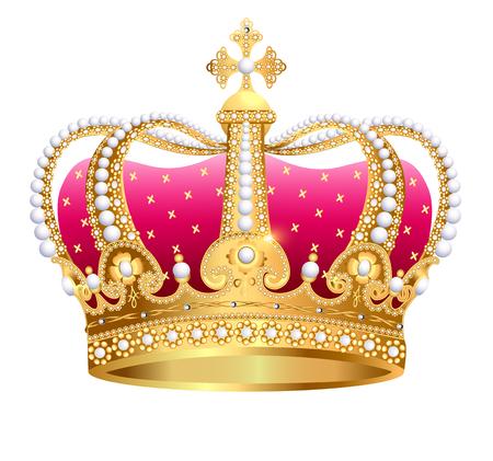 Illustration of golden royal crown. Illustration