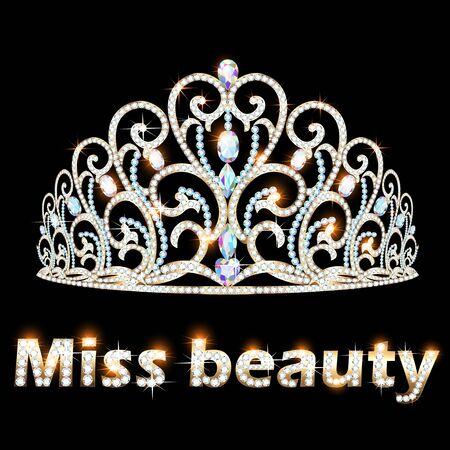 Illustration of a jeweler brilliant crown miss beauty Illustration