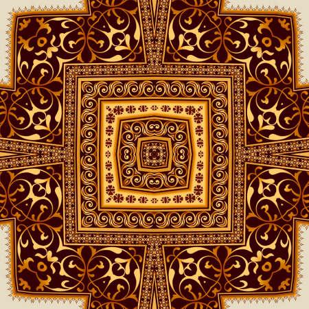 Illustration vintage background, elegant antiques, Victorian gold, floral ornament, baroque frame, beautiful invitation.