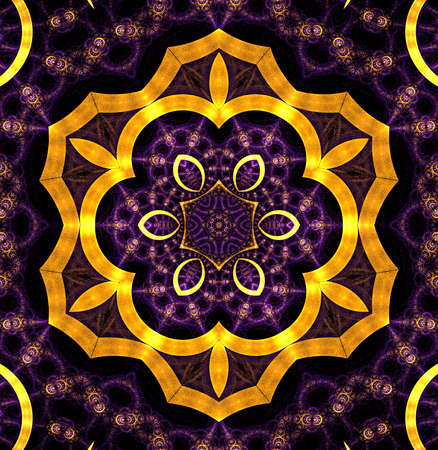 Colorful Fractal Background. A fractal is a natural phenomenon or a mathematical set that exhibits a repeating pattern that displays at every scale.