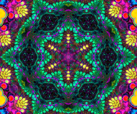 Colorful Fractal Background. A fractal is a natural phenomenon or a mathematical set that exhibits a repeating pattern that displays at every scale. Stockfoto