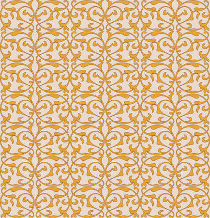 Illustration vintage seamless background with damask pattern 向量圖像