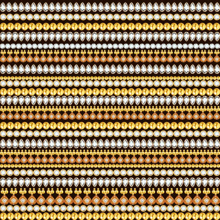 Illustration of a jewelry seamless pattern with precious stones of different colors 版權商用圖片