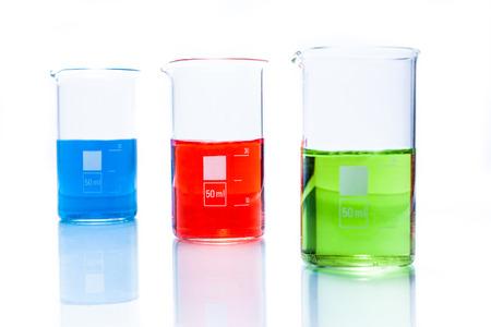 cylindrical: Set di resistente di temperatura bicchieri cilindrici con liquido di colore