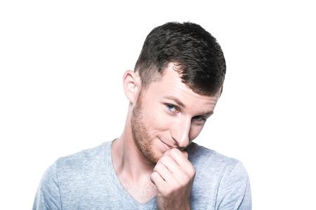 scruple: Very shy young man