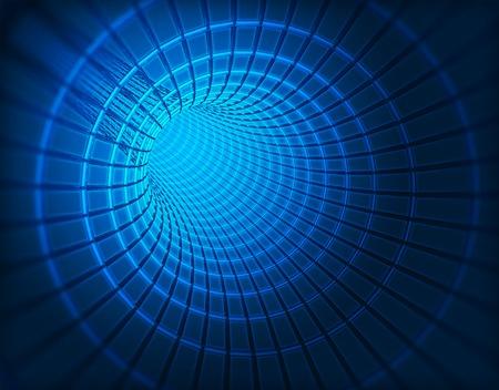 3D-beeld van een wormhole zwart gat Stockfoto