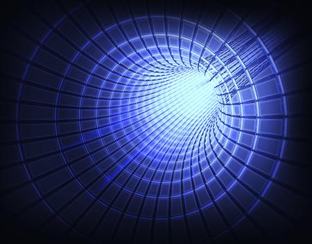 astrophysics: 3d image of a wormhole   black hole