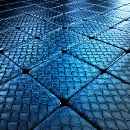 scaly: 3d image - Background of metal squares   chessboard Stock Photo