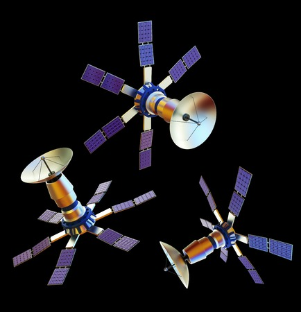 3D Models Of An Artificial Satellite (from Different Angles