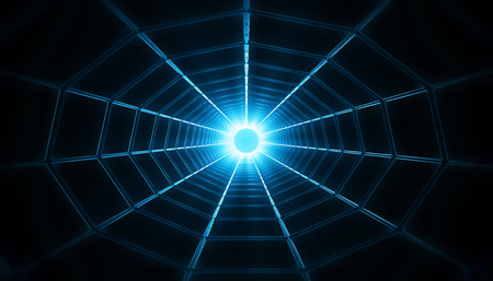 shortcut: 3d image of a wormhole  black hole