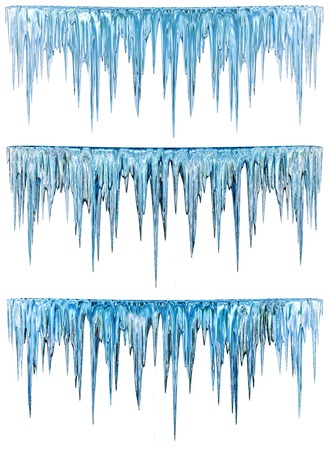 Blue cold icicles with an alpha channel