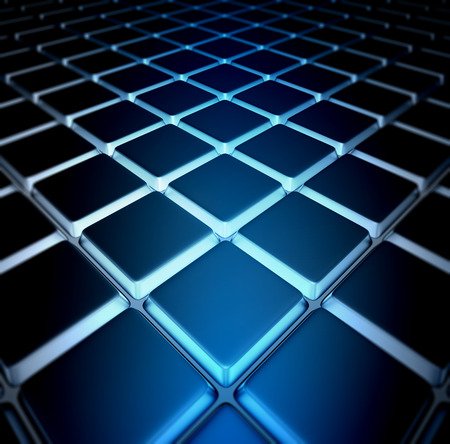 scaly: 3d image Background of metal squares chessboard Stock Photo