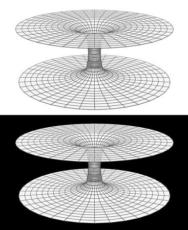 3d image of a wormhole, black hole
