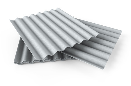 3d image of a stack of concrete slate on white background