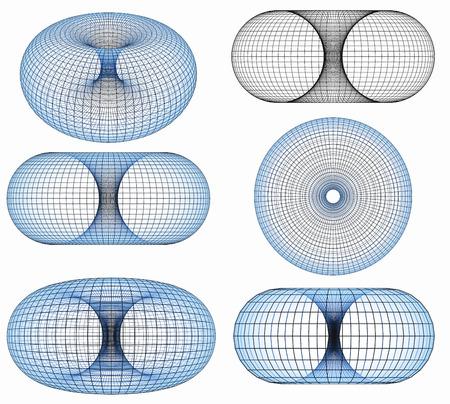 원환의 3D 스톡 콘텐츠