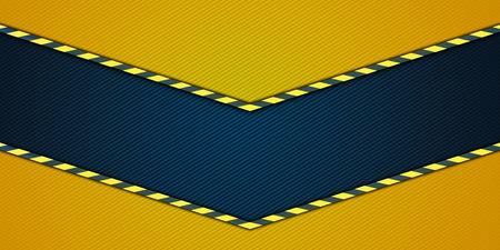 Widescreen-gelben Hintergrund mit einem radialen Farbverlauf und Winkelleisten