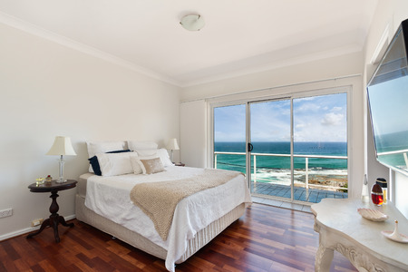 Modern bedroom interior Reklamní fotografie - 37033940