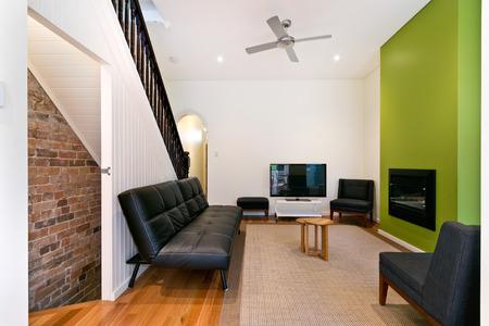 executive apartment: Beautiful Living room Stock Photo