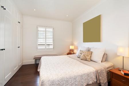 modern bedroom: modern bedroom interior Stock Photo