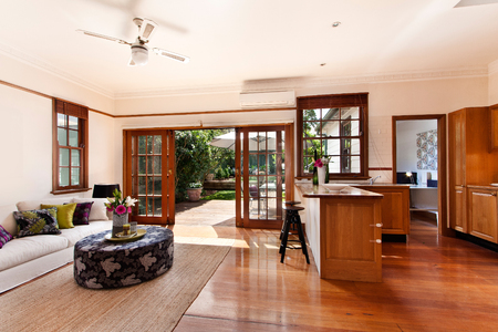 Modern living room, spacious great room