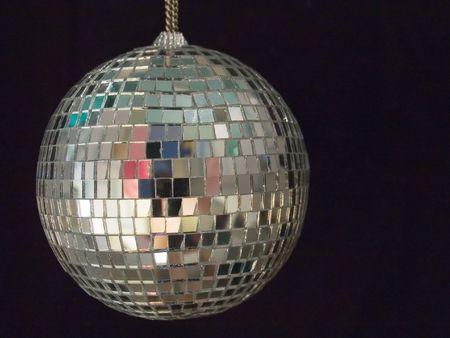 boogie: shiny disco ball on black background