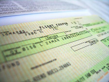 flight ticket, detailed photo