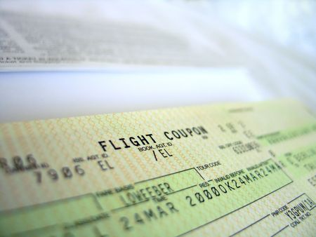 vliegticket, gedetailleerde