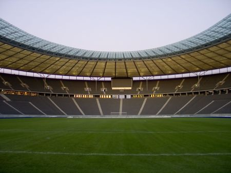 unoccupied: olympic stadium in berlin, germany
