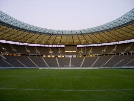 grandstand: olympic stadium in berlin, germany