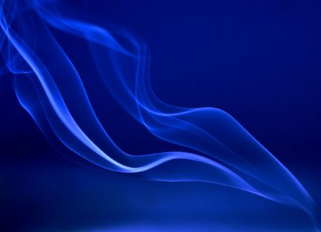 abstract smoke trails on deep blue background Stock Photo - 472603