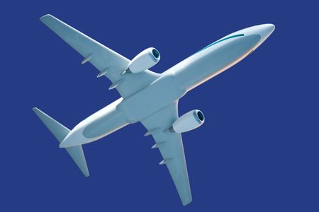 generic airplane model, with clipping path Stock Photo - 546556