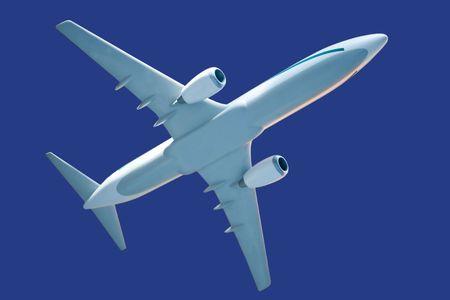 generieke vliegtuig model, met clipping path