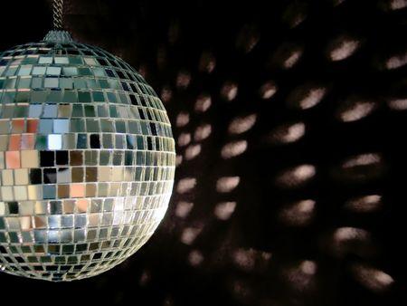 shiny disco ball on back backgound Stock Photo - 558119