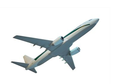 undefined: aircraft model isolated, clipping path included