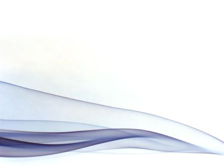 zijdeachtig paarse rook paden, op witte achtergrond