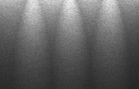 metal structure: brushed metal structure, upper spot lightning