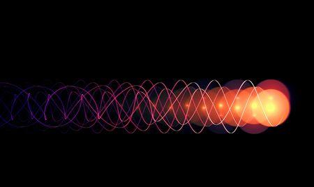 impulse: Energie-Impuls auf schwarzem Hintergrund - hohe Qualit�t machen